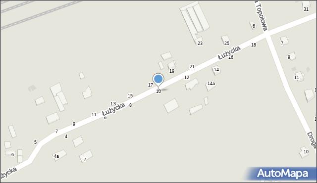 Grudziądz, Łużycka, 10, mapa Grudziądza