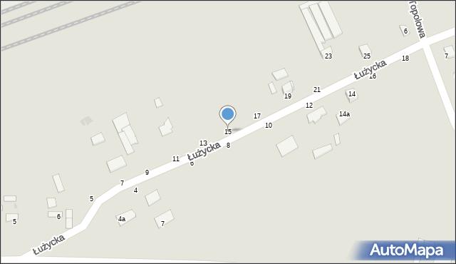 Grudziądz, Łużycka, 15, mapa Grudziądza