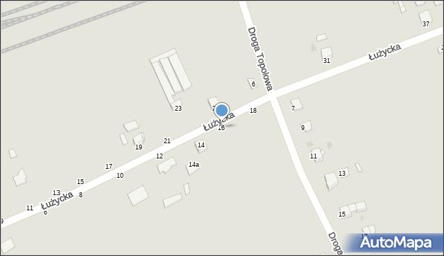 Grudziądz, Łużycka, 16, mapa Grudziądza