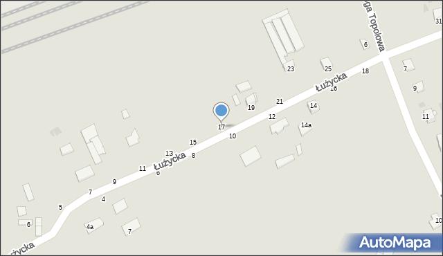 Grudziądz, Łużycka, 17, mapa Grudziądza