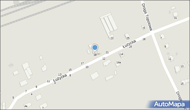 Grudziądz, Łużycka, 19, mapa Grudziądza