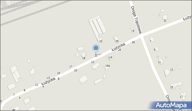 Grudziądz, Łużycka, 21, mapa Grudziądza