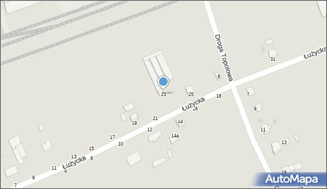 Grudziądz, Łużycka, 23, mapa Grudziądza