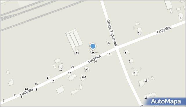 Grudziądz, Łużycka, 25, mapa Grudziądza