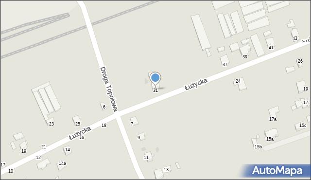 Grudziądz, Łużycka, 31, mapa Grudziądza