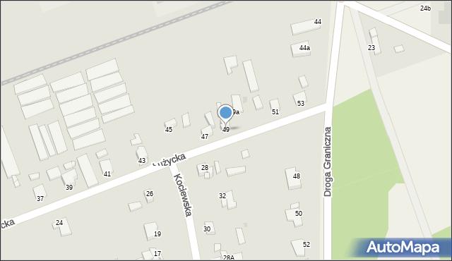 Grudziądz, Łużycka, 49, mapa Grudziądza