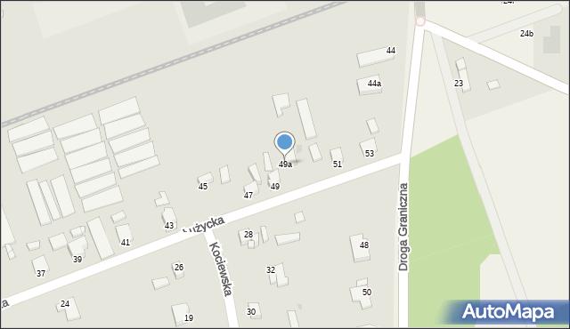 Grudziądz, Łużycka, 49a, mapa Grudziądza