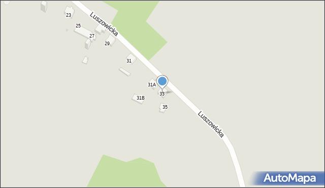 Jaworzno, Luszowicka, 33, mapa Jaworzno