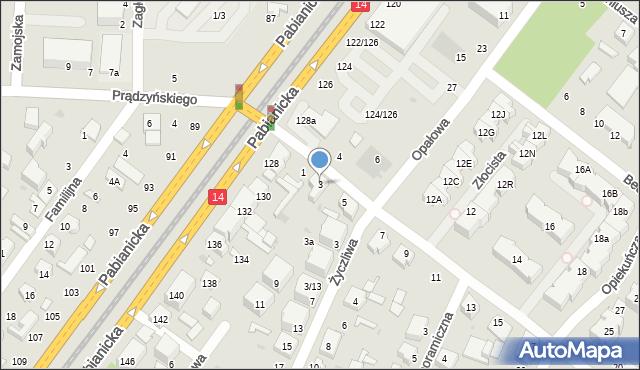 Łódź, Łukowa, 3, mapa Łodzi