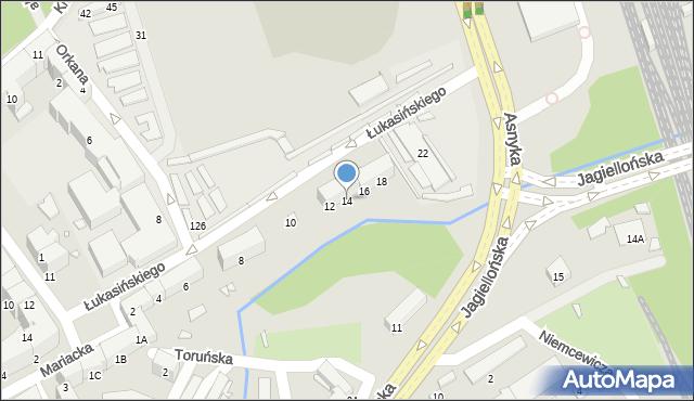 Nysa, Łukasińskiego Waleriana, mjr., 14, mapa Nysy