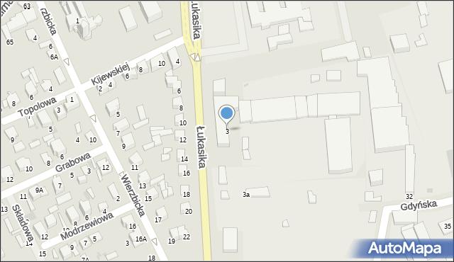 Radom, Łukasika Andrzeja, ks., 3, mapa Radomia