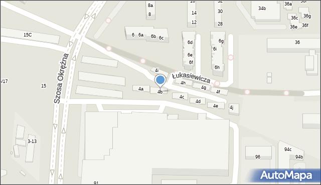 Toruń, Łukasiewicza Ignacego, 4b, mapa Torunia