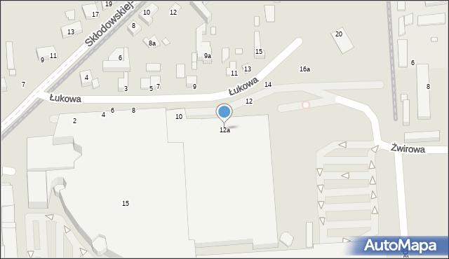 Toruń, Łukowa, 12a, mapa Torunia