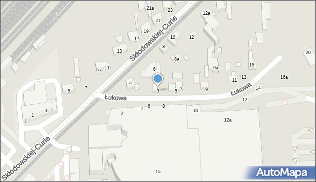 Toruń, Łukowa, 3, mapa Torunia