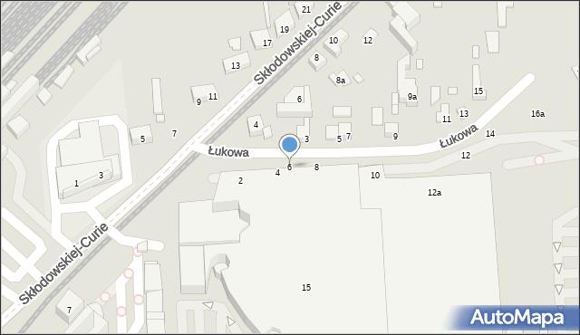 Toruń, Łukowa, 6, mapa Torunia