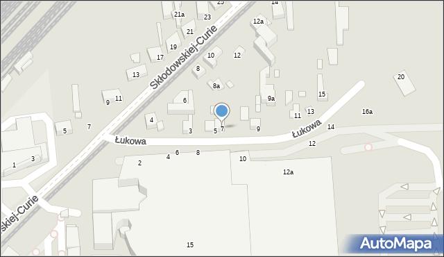 Toruń, Łukowa, 7, mapa Torunia