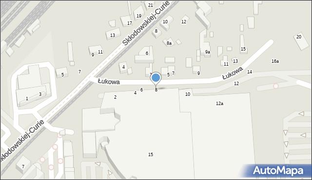 Toruń, Łukowa, 8, mapa Torunia