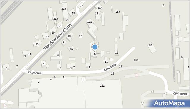 Toruń, Łukowa, 9a, mapa Torunia