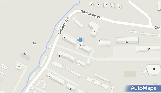 Ustrzyki Dolne, Łukasiewicza Ignacego, 5, mapa Ustrzyki Dolne