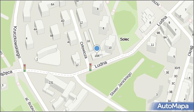 Warszawa, Ludna, 10A, mapa Warszawy