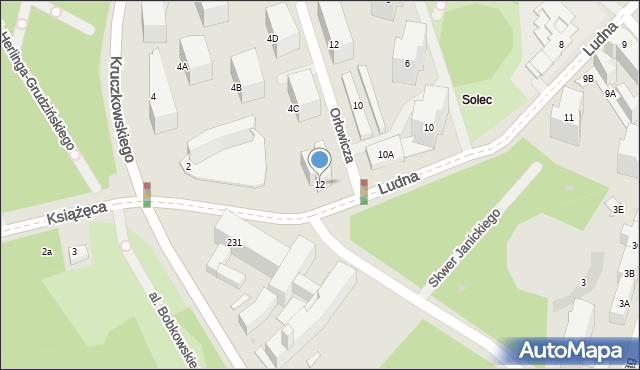 Warszawa, Ludna, 12, mapa Warszawy