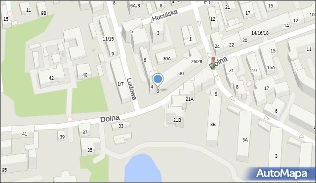 Warszawa, Ludowa, 2, mapa Warszawy