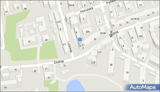 Warszawa, Ludowa, 4, mapa Warszawy
