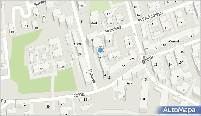 Warszawa, Ludowa, 6, mapa Warszawy
