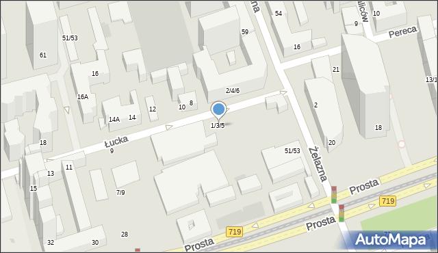 Warszawa, Łucka, 1/3/5, mapa Warszawy