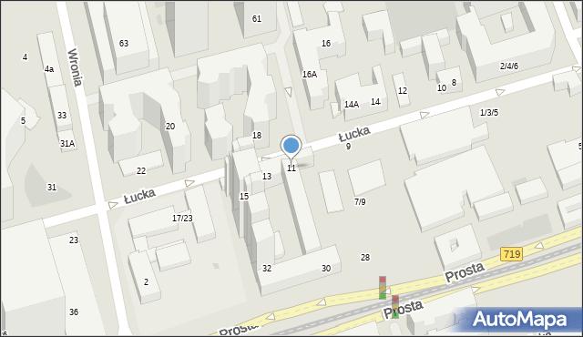 Warszawa, Łucka, 11, mapa Warszawy