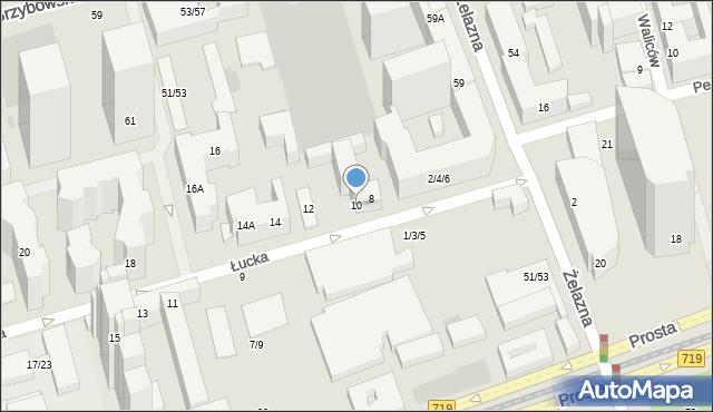 Warszawa, Łucka, 10, mapa Warszawy