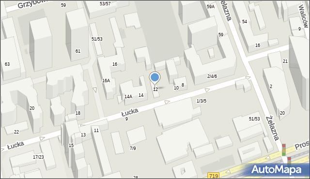 Warszawa, Łucka, 12, mapa Warszawy