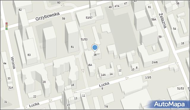 Warszawa, Łucka, 16, mapa Warszawy