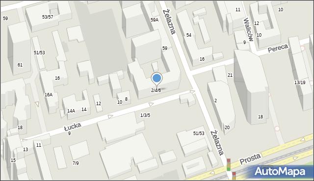 Warszawa, Łucka, 2, mapa Warszawy