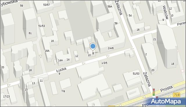 Warszawa, Łucka, 8, mapa Warszawy