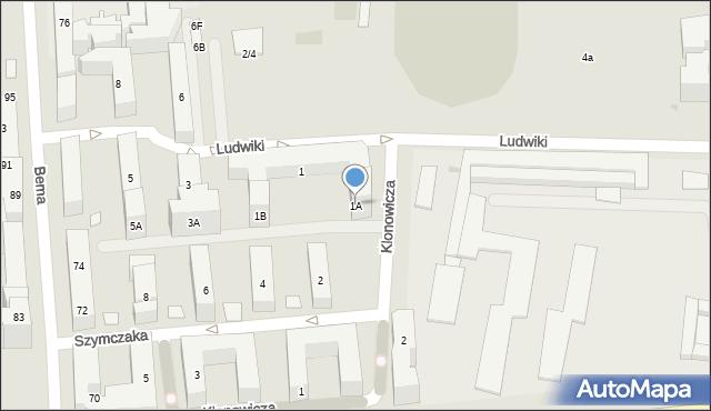 Warszawa, Ludwiki, 1A, mapa Warszawy