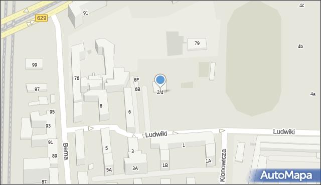 Warszawa, Ludwiki, 2/4, mapa Warszawy