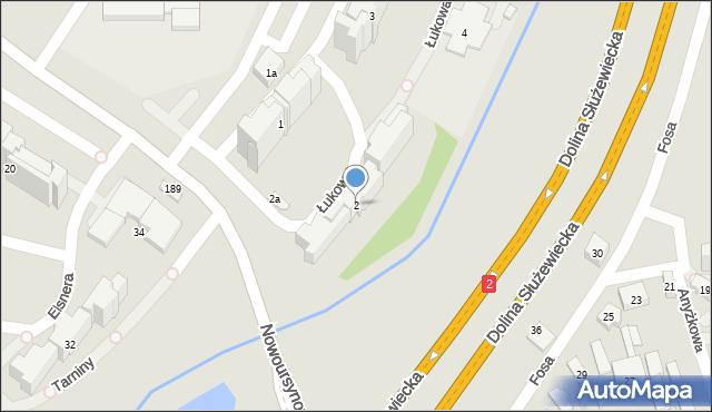 Warszawa, Łukowa, 2, mapa Warszawy