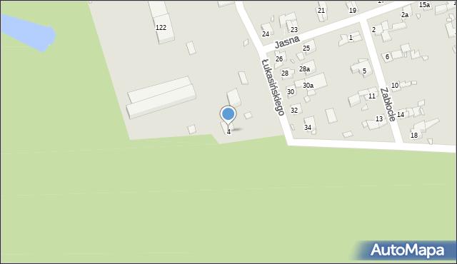 Zabrze, Lubelska, 4, mapa Zabrza