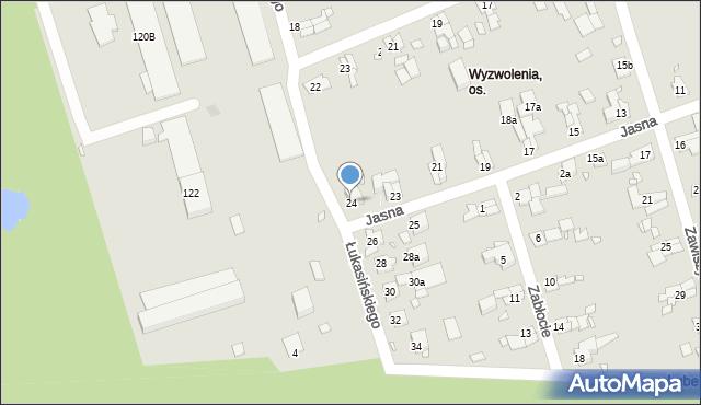 Zabrze, Łukasińskiego Waleriana, mjr., 24, mapa Zabrza