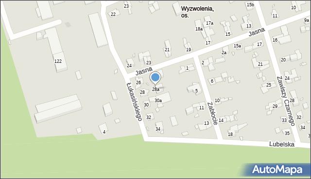 Zabrze, Łukasińskiego Waleriana, mjr., 28a, mapa Zabrza