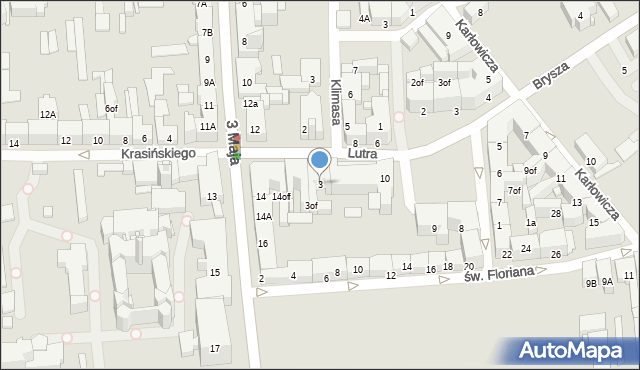 Zabrze, Lutra Marcina, 3, mapa Zabrza