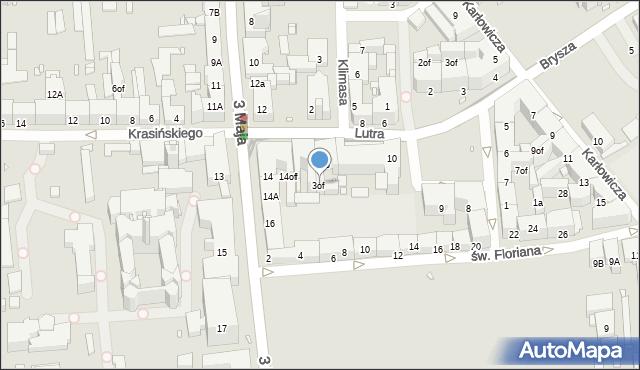 Zabrze, Lutra Marcina, 3of, mapa Zabrza