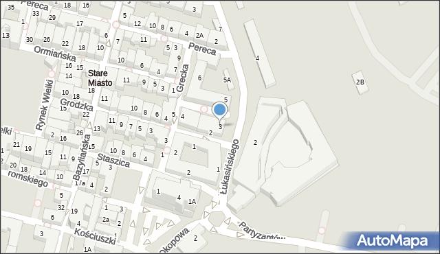 Zamość, Łukasińskiego Waleriana, mjr., 3, mapa Zamościa