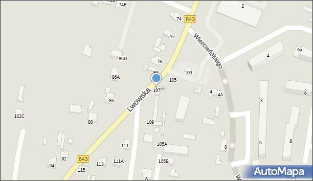 Chełm, Lwowska, 107, mapa Chełma