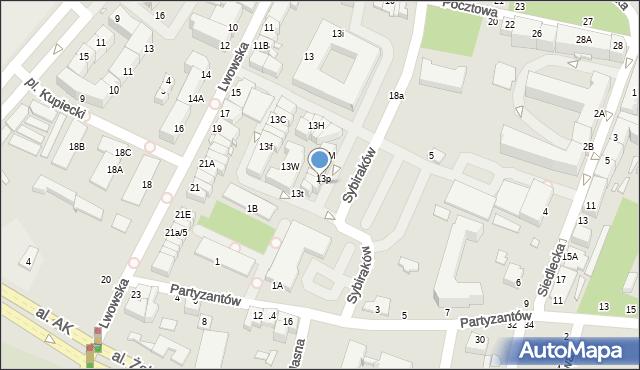 Chełm, Lwowska, 13r, mapa Chełma