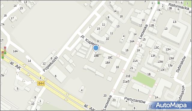 Chełm, Lwowska, 18B, mapa Chełma