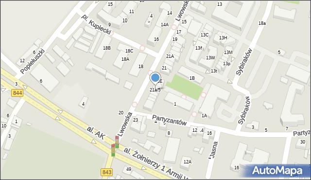 Chełm, Lwowska, 21a/5, mapa Chełma