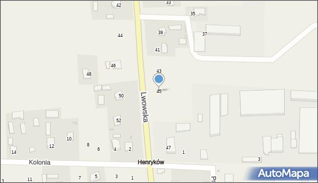 Dachnów, Lwowska, 45, mapa Dachnów