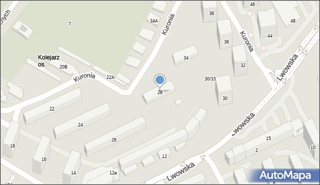 Lublin, Lwowska, 28, mapa Lublina